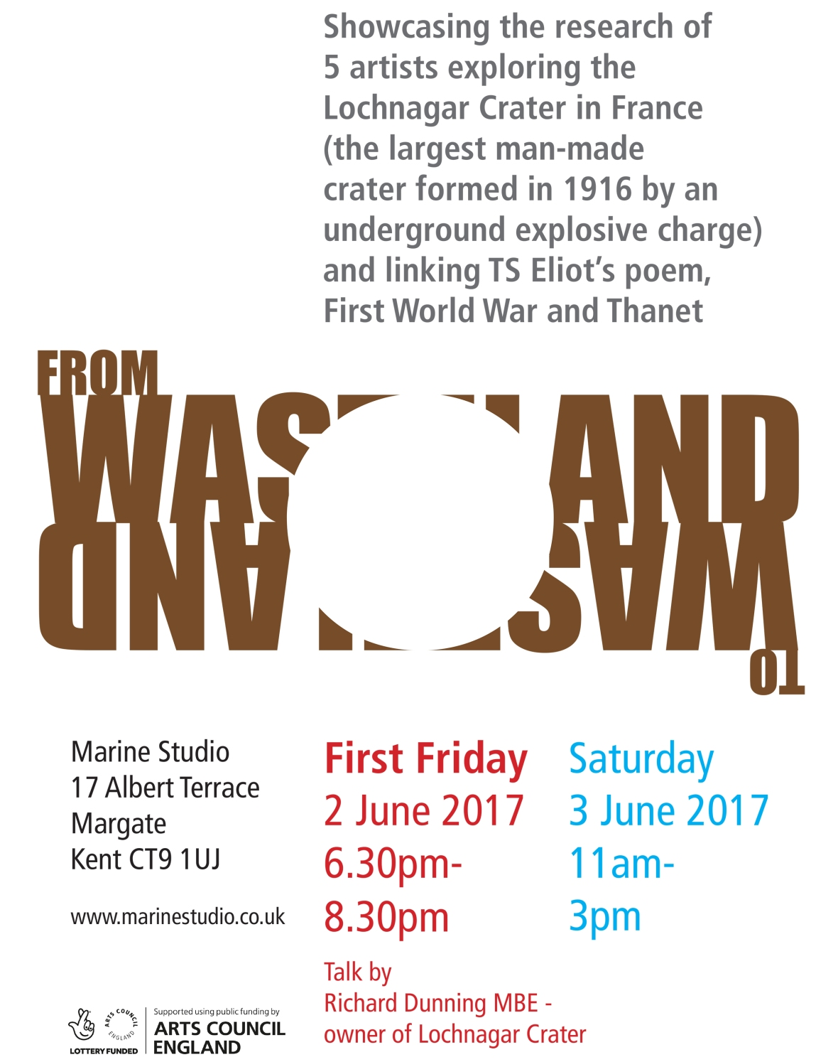 FIRST FRIDAY - WASTELAND TO WASTELAND A3 POSTER v06